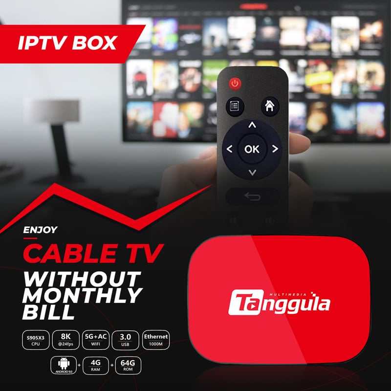 Tanggula Android 9.0 TV Box for IPTV | Best Streaming Service for TV
